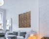 3D Wandpaneele Holz QUAD im Wohnzimmerwand