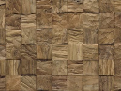Diamond 100% Teak Root Cube Natural
