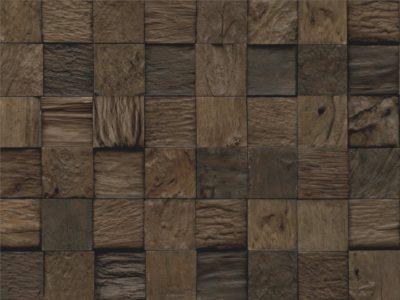 Wandverkleidungen Root Teak mixed Cube Sulawesi Charred