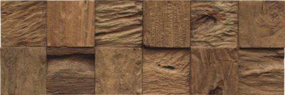Wandverblender Holz - Root Teak mixed Cube Bali Natural