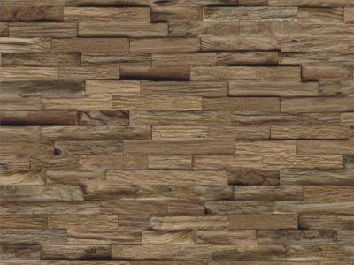 Root Teak mixed Naturel Sumatra - Wandgestaltung aus Holz