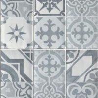 Wandverkleidung Küche - Baridecor Aqua Vintage Grey – Wandverkleidung mit Vintage Fliesenoptik