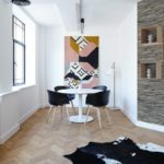 Hochwertige Wandverblender aus recyceltem Echtholz