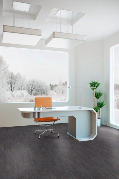 Starclic Office Vintage Carbon – dunkler Bodenbelag für große Räume
