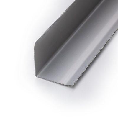 Kantenschutzprofil 25x25 - Edelstahl Feinschliff - dreifach gekantet