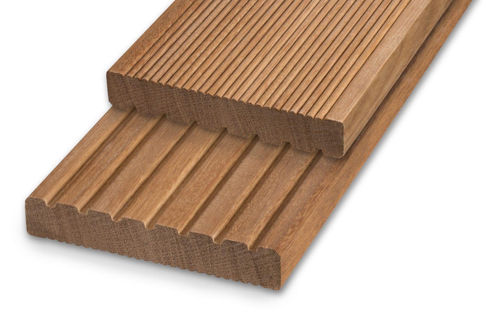 Terrassendiele Bangkirai Premium geriffelt und robust