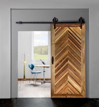 INDO Barndoor Solid Ravenna – handgemachte Holztüren mit Montageset