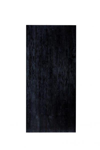 INDO Barndoor Teak Charred – handgemachte Holztüren mit Montageset