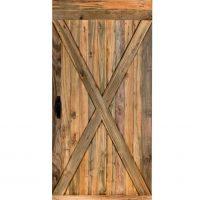 INDO Barndoor Teak Natural – handgemachte Holztüren mit Montageset