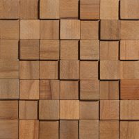 Wood Collection Cube Quadrat – Kantiges Holzdesign für die Wand